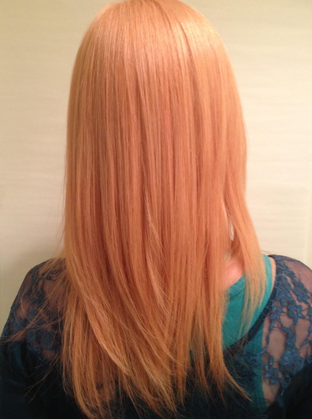 Color Correction Christin S Path To Peach My Hair Fix
